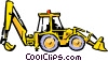Vector Clip Art image  of a Front end loader
