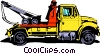 Vector Clipart graphic  of a Tow truck