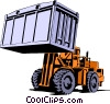 Vector Clip Art picture  of a Forklift
