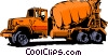 Cement mixer Vector Clip Art picture