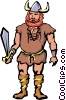 Vector Clip Art graphic  of a Viking