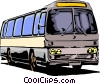 Vector Clip Art image  of a Tour bus