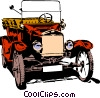 Vector Clipart graphic  of a Old car