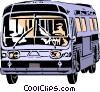 Vector Clipart picture  of a Public transit bus