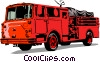 Vector Clip Art graphic  of a Fire truck