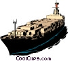 Cargo ship Vector Clipart illustration