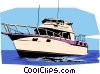 Vector Clip Art graphic  of a Pleasure boat