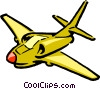 Vector Clip Art image  of a Cartoon jet airplane