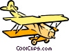 Cartoon  biplane Vector Clipart picture
