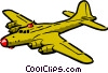 Vector Clip Art image  of a Cartoon warplane