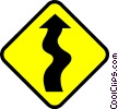 Symbol of a winding road Vector Clipart illustration