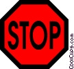 Symbol of a stop sign Vector Clipart graphic