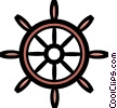 Vector Clipart picture  of a Symbol of a boat wheel
