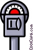 Vector Clipart illustration  of a Symbol of a parking meter