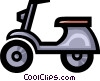 Symbol of a motor scooter Vector Clipart picture