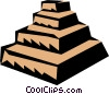 Step pyramids Vector Clipart graphic