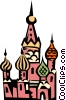 Vector Clip Art image  of a St. Basil's Church