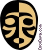 Vector Clipart graphic  of a mask