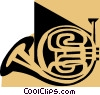 Vector Clipart graphic  of a French horn symbol