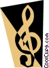 Vector Clipart picture  of a Treble clef