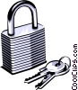 Vector Clipart graphic  of a Lock & key