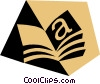 Book symbol Vector Clipart graphic