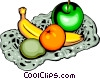 Vector Clip Art graphic  of an Assorted fruits