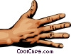 Vector Clip Art image  of a Hand