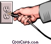 Electrical plug Vector Clip Art picture