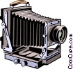 Vector Clip Art graphic  of a Old fashioned camera