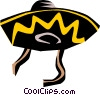 Vector Clipart graphic  of a Mexican hats