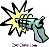 Vector Clip Art graphic  of a Toy laser gun
