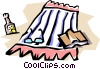 Vector Clipart graphic  of a Beach blankets