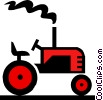 Vector Clipart illustration  of a Tractor symbol