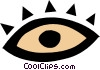 Vector Clip Art graphic  of a Eye symbol