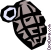 Vector Clipart graphic  of a Hand grenade