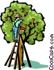 Vector Clip Art image  of an Apple trees