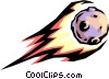 Vector Clipart graphic  of an Asteroid