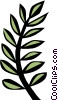 Vector Clip Art graphic  of a Fern leaves