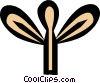 Vector Clip Art graphic  of a Egyptian hieroglyphic symbols