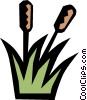 Cattails Vector Clipart picture
