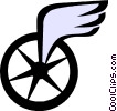 Winged symbol Vector Clip Art graphic