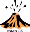 Vector Clip Art image  of a Volcano