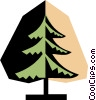 Tree symbol Vector Clipart picture