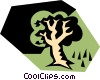 Vector Clipart graphic  of a Tree symbols