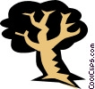 Tree symbol Vector Clipart illustration