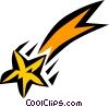 Vector Clipart graphic  of a Shooting star