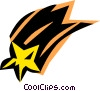 Shooting stars Vector Clipart picture