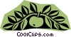 Vector Clip Art graphic  of an Apple woodcut