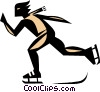Skater symbol Vector Clipart picture